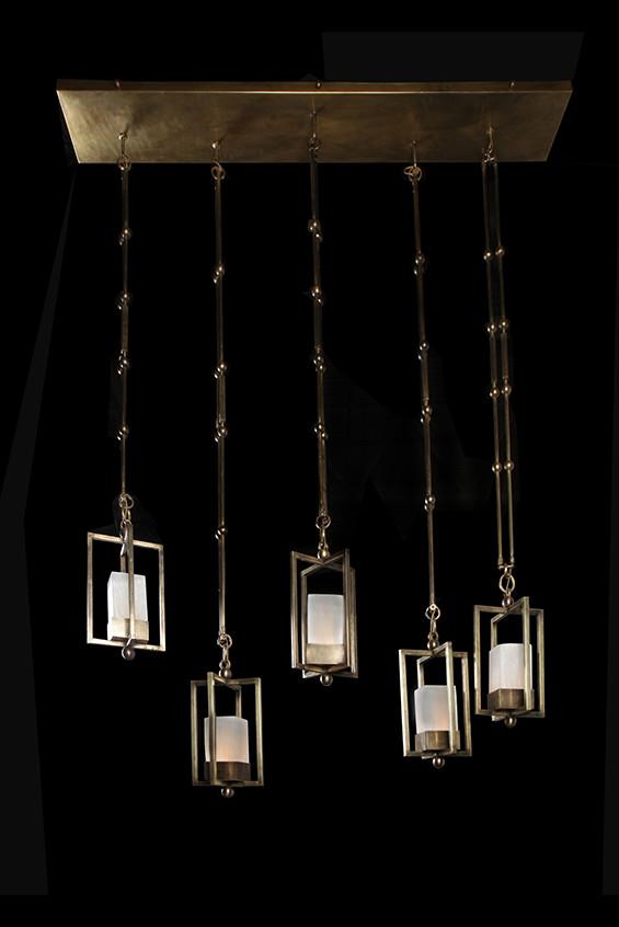 Lustre Nout 5 lanternes